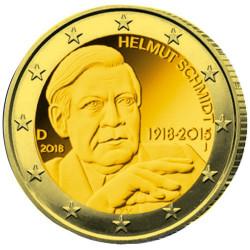 2 Euro Allemagne 2018 dorée - Helmut Schmidt