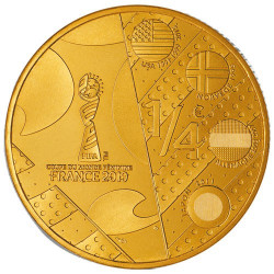 1/4 Euro France 2019 en Or nordique