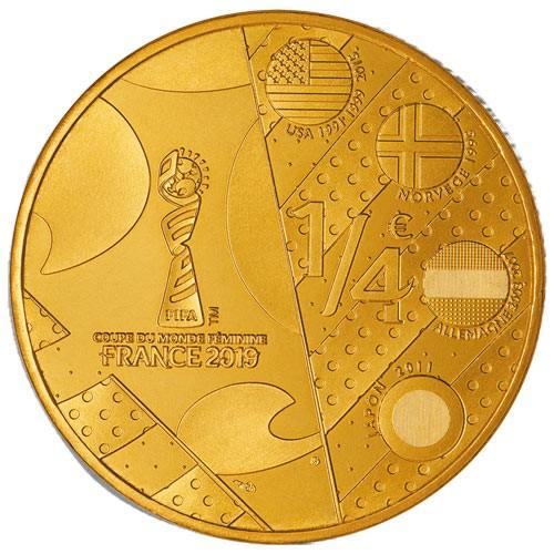1/4 Euro France 2019 en Or nordique