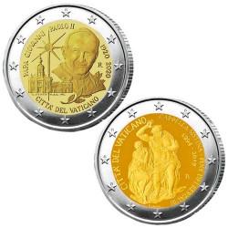Lot des 2 x 2 Euro Vatican BU 2020-2019