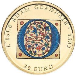50 Euro Or Malte BE 2020 colorisée - L'Isle Adam Graduals