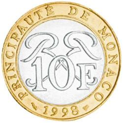 10 Francs Monaco 1989-2000 - Sceau des Grimaldi