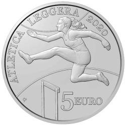 5 Euro Argent Saint-Marin BE 2020 - Championnats d'athlétisme des petits États d'Europe