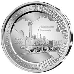 5 Euro Argent Belgique BE 2020 - 185 ans du train européen
