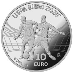 10 Euro Argent Espagne BE 2020 - UEFA Coupe d'Europe