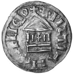 1 Denier Argent Louis I le Pieux - Denier dit à la légende chrétienne