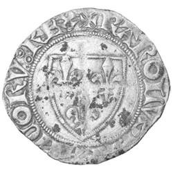 "Blanc dit ""Guénar"" Charles VI le Fou - 1385-1417"