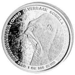 5 000 Francs Argent Afrique du Sud 2020 - Gorille