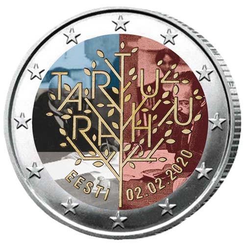2 Euro Estonie 2020 colorisée - Université de Tartu
