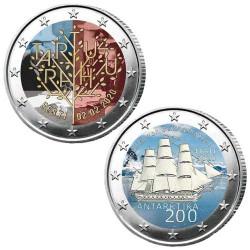 Lot des 2 x 2 Euro Estonie 2020 colorisées