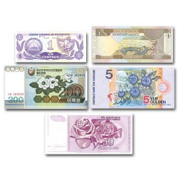 Lot de 5 billets 1984-2005