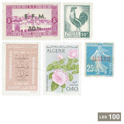 100 timbres Algérie