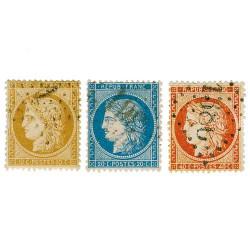 3 timbres Cérès du siège de Paris