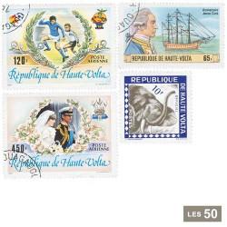 25 timbres Haute-Volta