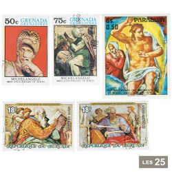 25 timbres Michel-Ange