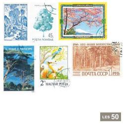 50 timbres arbres