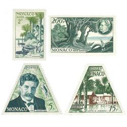 4 timbres Monaco A. Schweitzer 1955