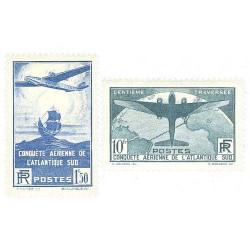2 timbres traversée de l'Atlantique Sud