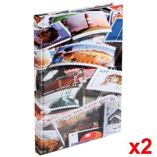 Lot de 2 albums de collection Imprimé timbres