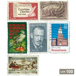 100 timbres États-Unis