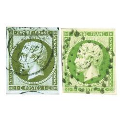 2 timbres 2nd Empire Français