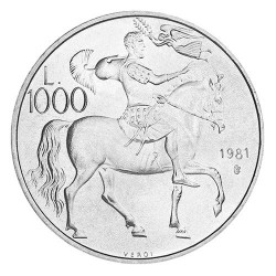 1 000 Lire Argent Saint-Marin
