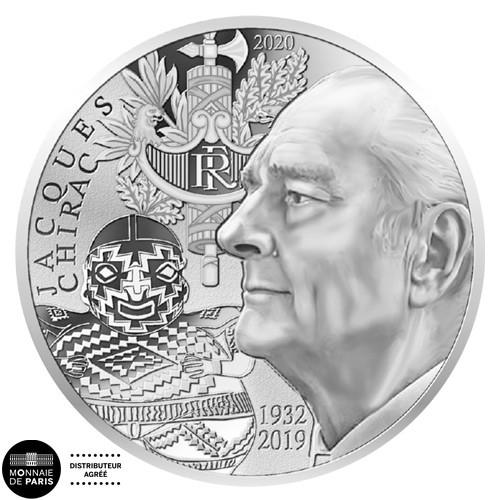 10 Euro Argent France 2020 - Jacques Chirac