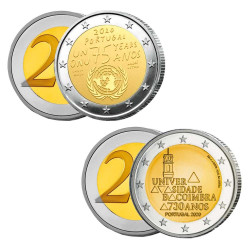 Lot des 2 x 2 Euro Portugal 2020