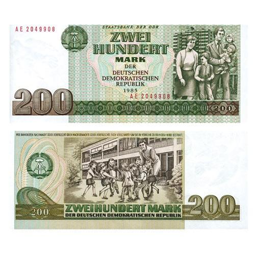 Billets de 200 et 500 Mark 1985