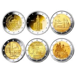 Lot des 12 x 2 Euro Allemagne