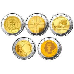 Lot des 10 x 2 Euro Belgique