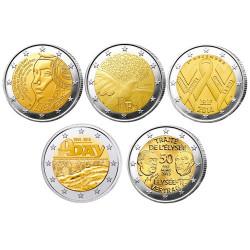 Lot des 10 x 2 Euro France