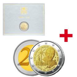 Lot des 2 x 2 Euro Vatican BU-BE 2020