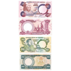 Lot de 5 billets Nigeria 1999-2004