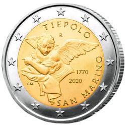 2 Euro Saint-Marin BU 2020 - 250 ans de la mort de Gianbattista Tiepolo