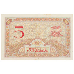 5 Francs Madagascar 1937