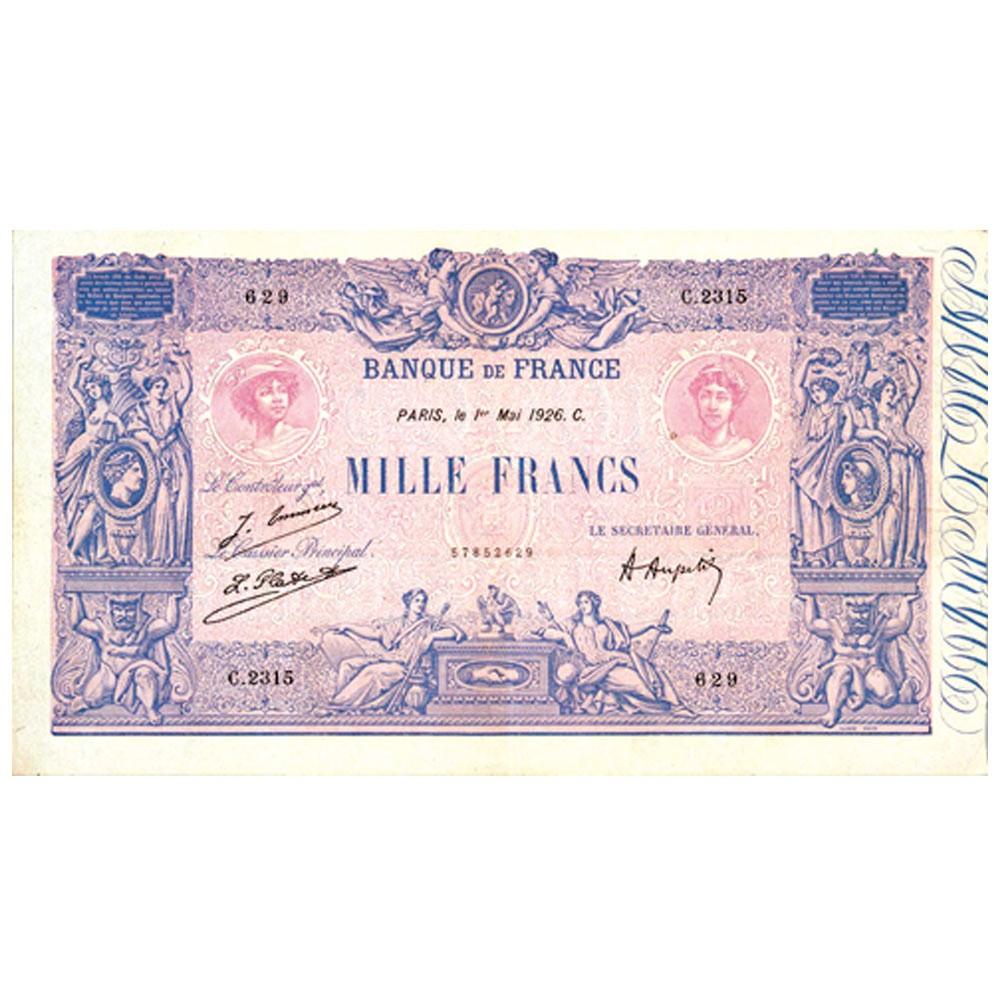 1 000 Francs Bleu et Rose