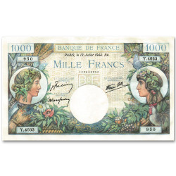 1 000 Francs Commerce et Industrie 1940
