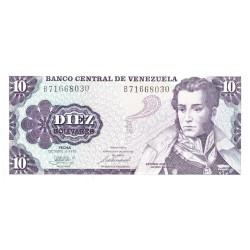 10 Bolivars Vénézuela 1981