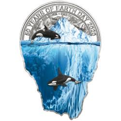 2 000 Francs Argent Cameroun BU 2020 colorisée - 50 ans de la journée de la Terre