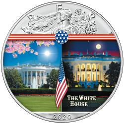 1 Dollar Argent USA 2020 colorisée - Maison blanche