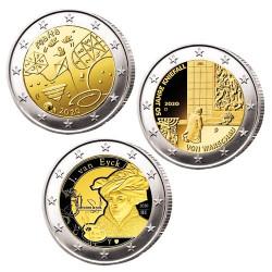 Lot de 3 x 2 Euro 2020
