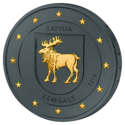 2 Euro Lettonie Ruthénium -...