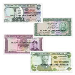 Lot de 4 billets Mozambique...