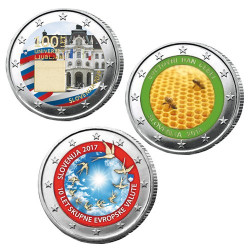 3 x 2 Euro Slovénie...