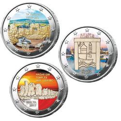 3 x 2 Euro Malte...