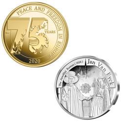 Lot des 2 monnaies Belgique...