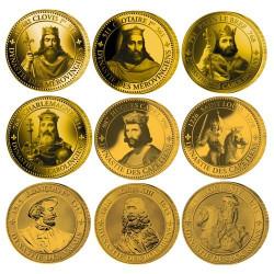 Lot des 9 pièces Rois de...