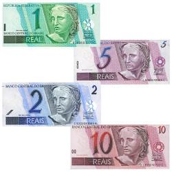 4 Billets Brésil 1997-2003