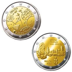Lot des 2 x 2 Euro Malte 2020